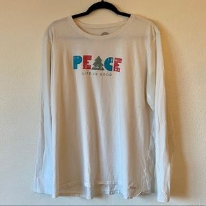 Life is Good Peace Christmas long sleeve top